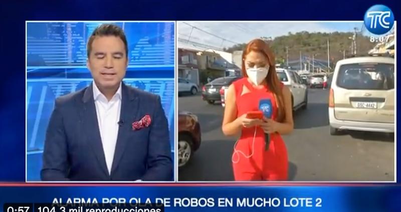 Reportera llora por robo en Guayaquil