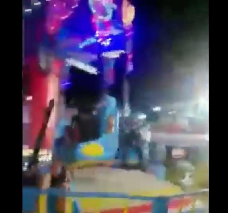 Juego mecánico en Guayaquil provoca a accidente