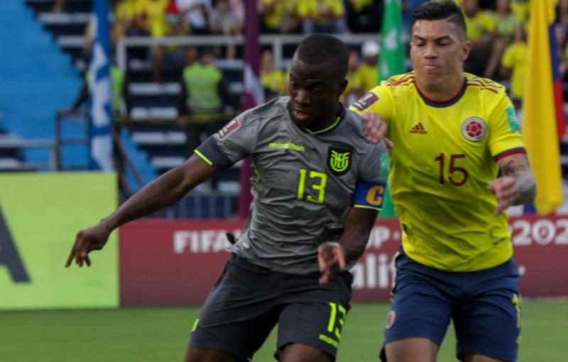 Ecuador en su partido ante Colombia en Barranquilla