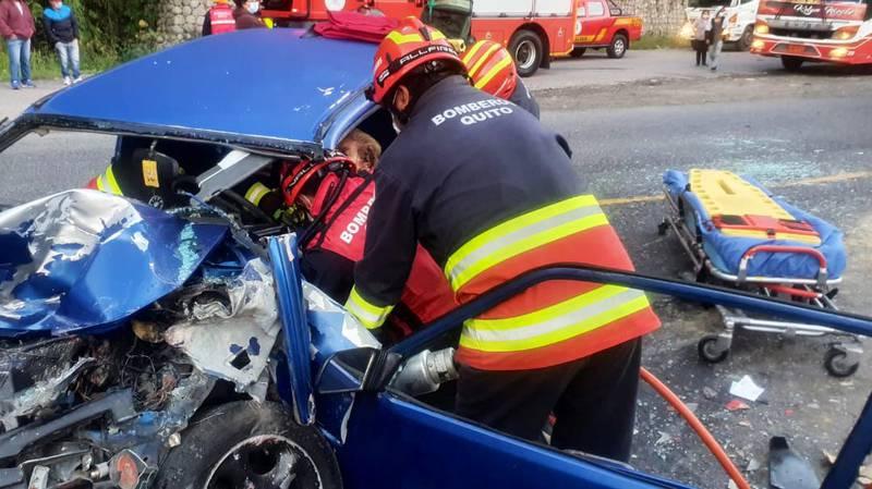 Accidente de tránsito en Calacalí