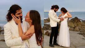 Novia sorprende a su esposo ciego con un vestido de boda táctil