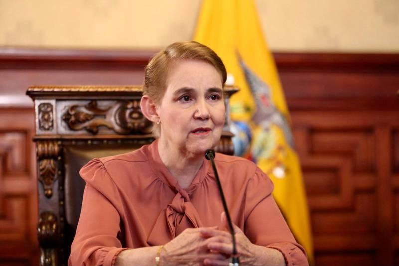 Ministra de Gobierno, Alexandra Vela