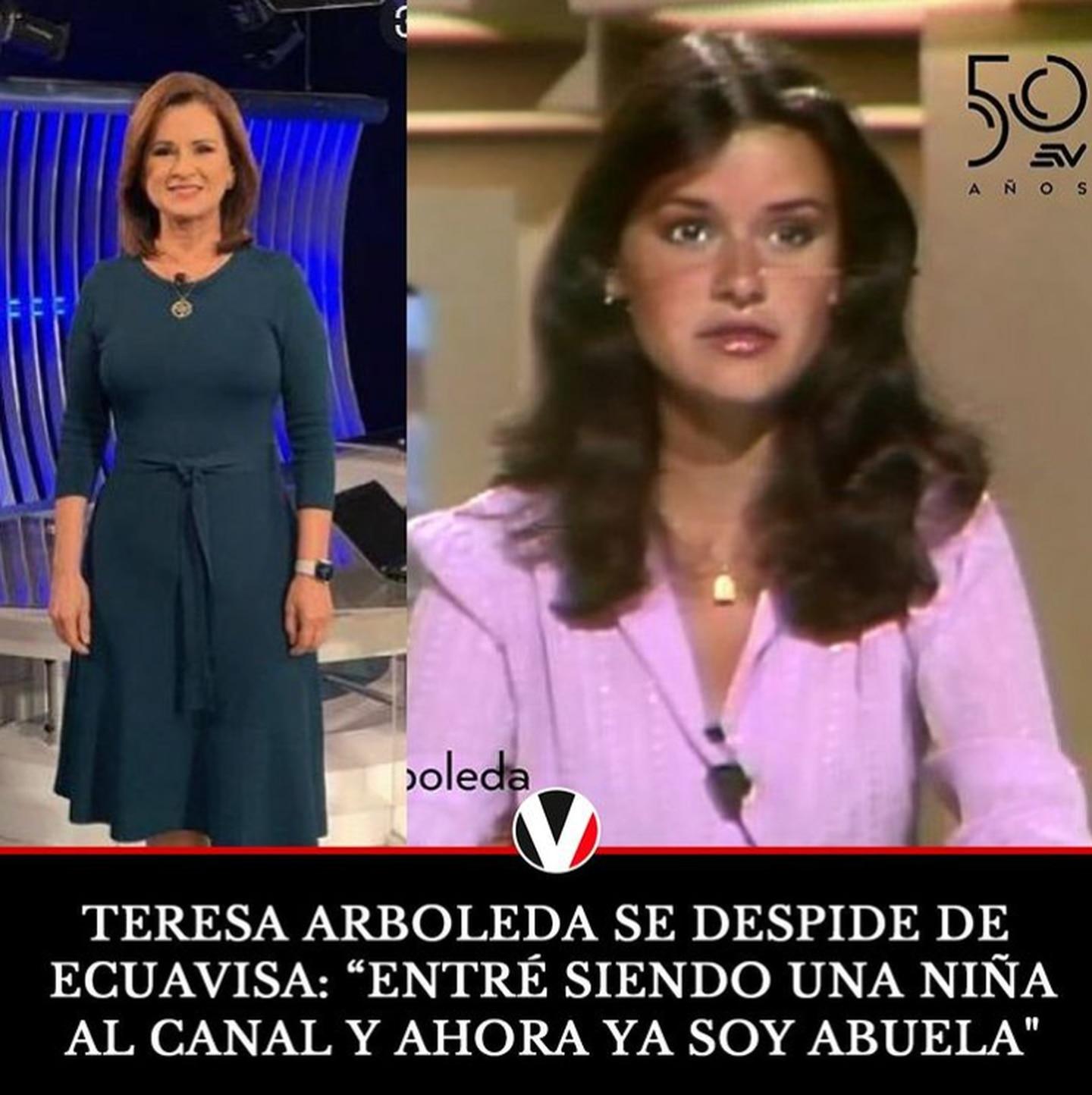Teresa Arboleda en Ecuavisa Antes - Después