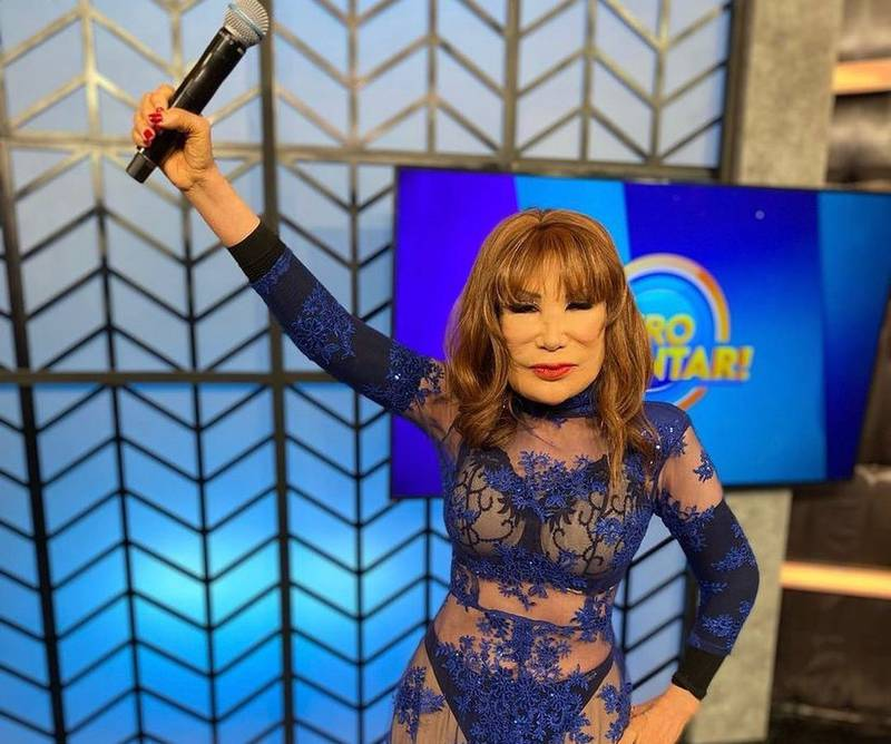 La actriz mexicana apareció rejuvenecida